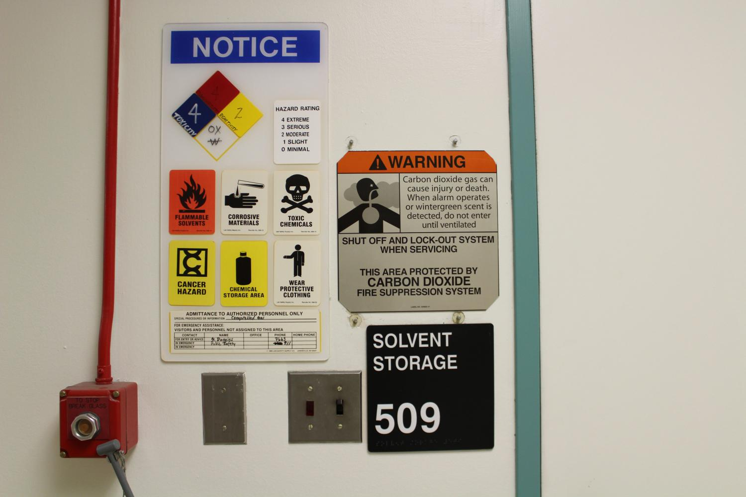 After a hazardous chemical spill, the fourth and fifth floor chemical storage rooms in Sequoia Hall were part of the subject of a state health and safety audit of four California State University campuses. The audit, released Tuesday, found that the campuses have not complied with health and safety policies, training and proper laboratory inspection.