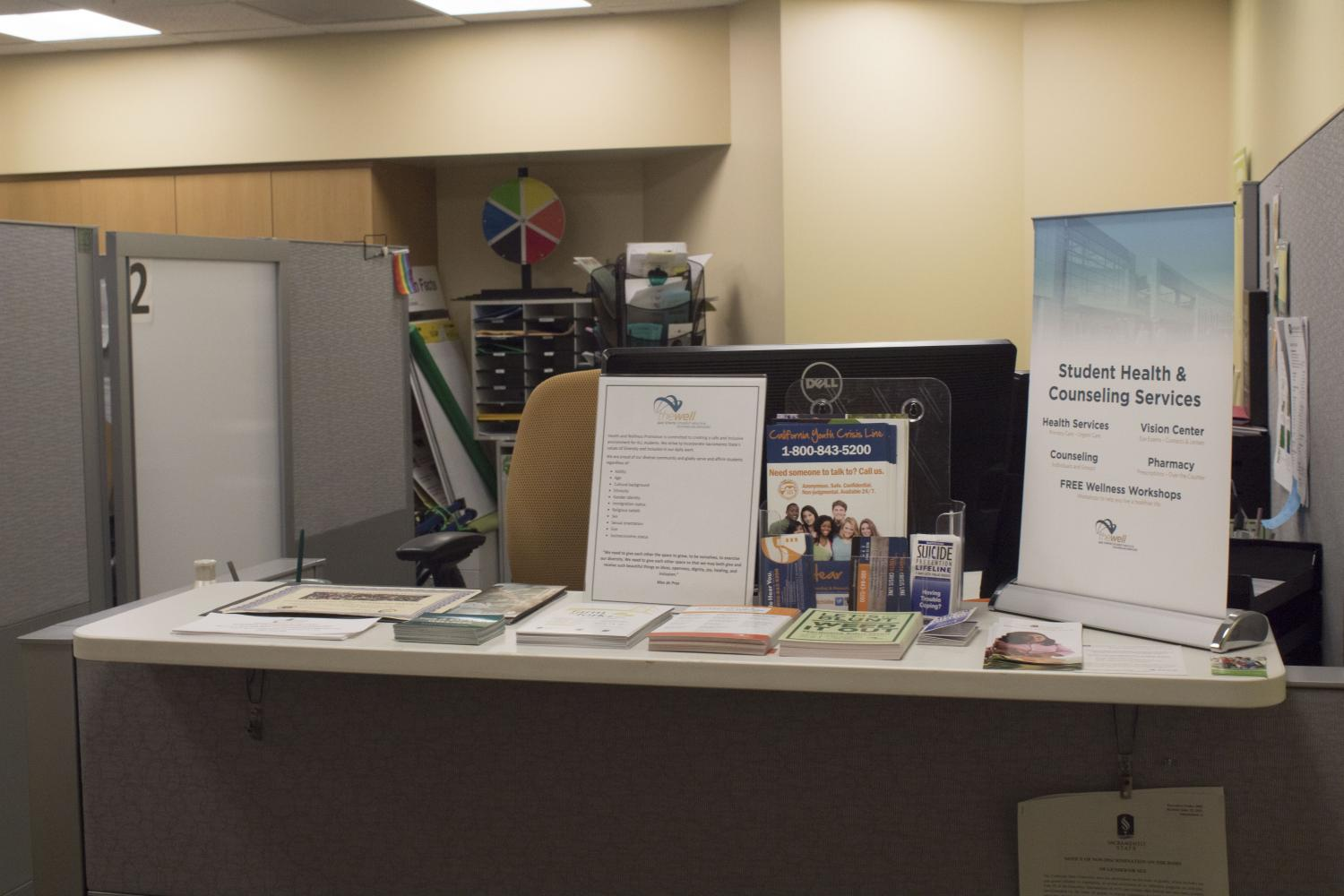The Health and Wellness Promotion office is located on the first floor of The WELL. Here, students can seek the help they need, schedule counseling and attend wellness workshops.