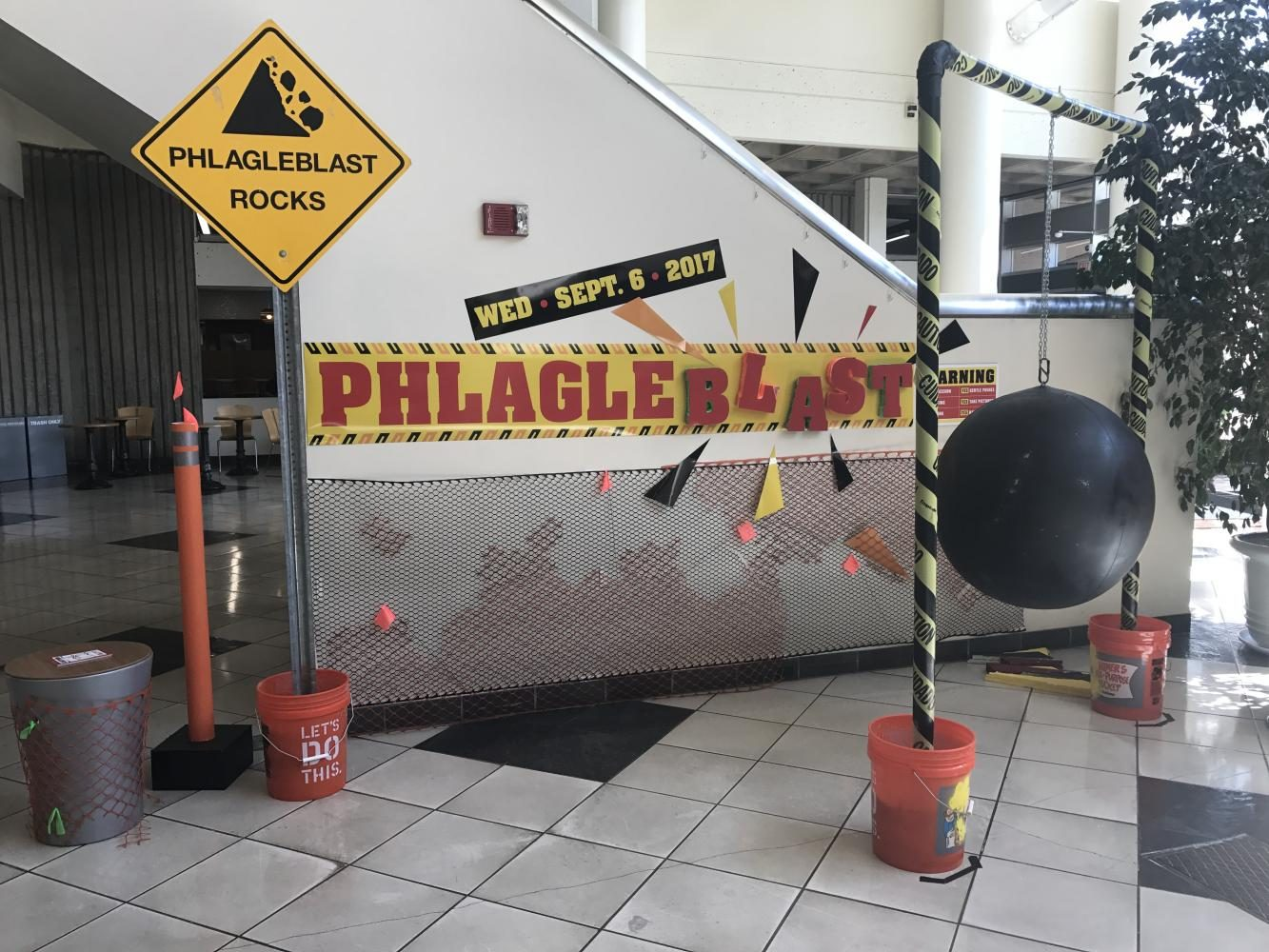 The University Union embraces the chaos of construction and uses it as a theme to this year's 18th annual Phlagleblast open house on Sept. 6.