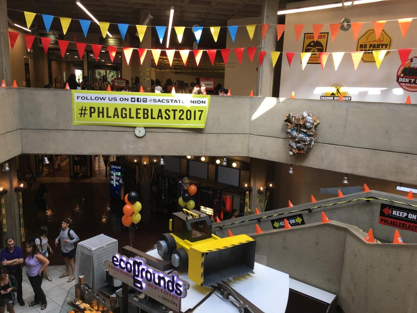 The+18th+annual+Phlagleblast+was+ornamented+in+construction-themed+decor+in+the+University+Union+on+Wednesday.