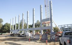 Parking Structure V stays on schedule as new pillars added