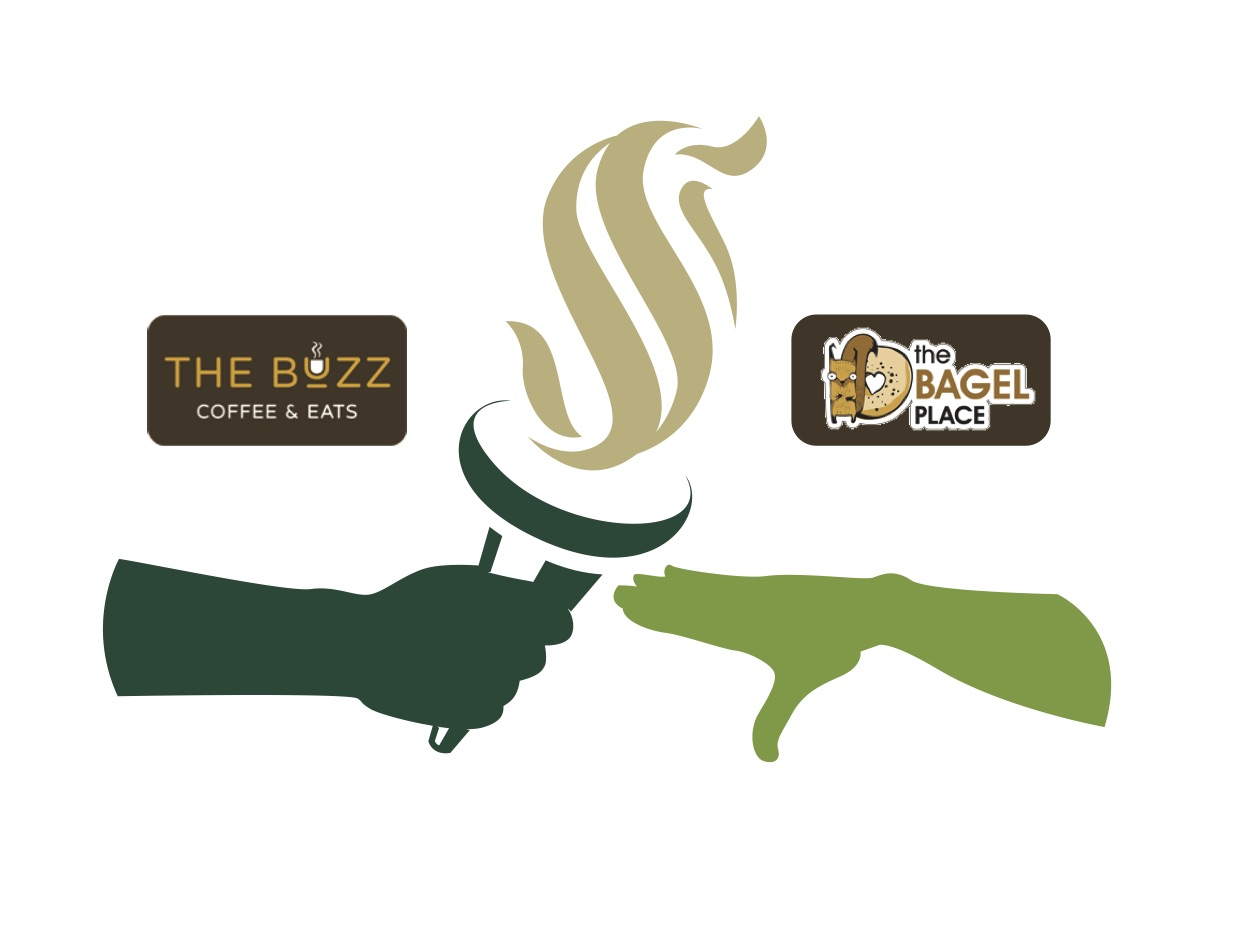 The Buzz, a restaurant that was closed due to the construction at the University Union, passes the flame to a new eatery, The Bagel Place. The Bagel Place replaced RF Greens in the River Front Center.