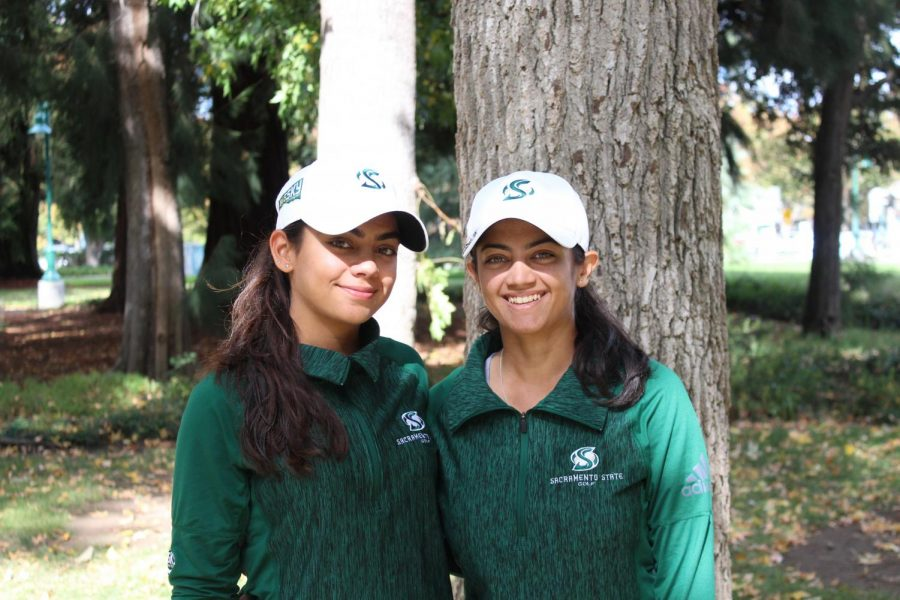 Sacramento+State+sophomore+Nishtha%2C+left%2C+and+senior+Astha+Madan%2C+right%2C+helped+lead+the+women%27s+golf+team+to+its+first+Big+Sky+Conference+Championship+since+2007.