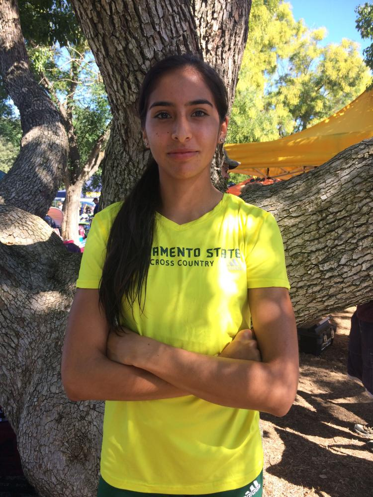 Sacramento State junior cross country runner Amy Quinones has placed first among team members in each race this season and in the top 20 overall at each event.