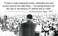 MLK at Sac State: 50 years later