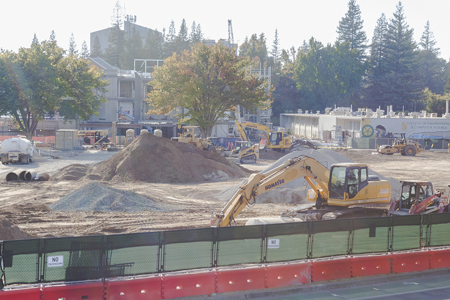 Construction is underway on Sacramento State's Science II building, which is expected to be completed in July 2019.