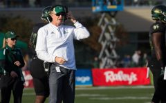 Sacramento State head football coach Jody Sears stands on the sidelines during a 52-47 win over UC Davis Saturday, Nov. 18 at Hornet Stadium. Sears was fired Monday following a 2-8 season.