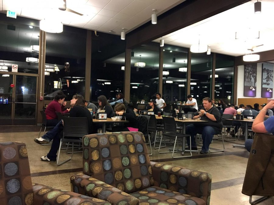 The dining commons is where most student residents spend the points from their meal plans. By the end of the semester, however, the meals provided here aren't available with points.