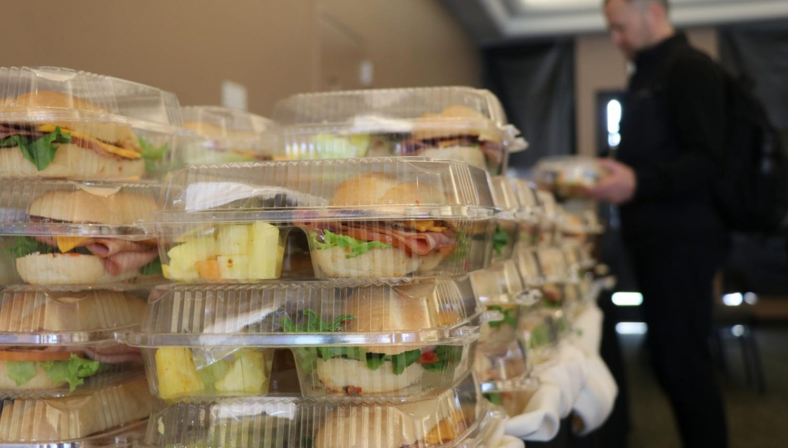 Leftover sandwiches were provided by Epicure and given to students through Epicure Extras after the Student Panel on Jan. 8. (Photo by Kelly Kiernan – The State Hornet)