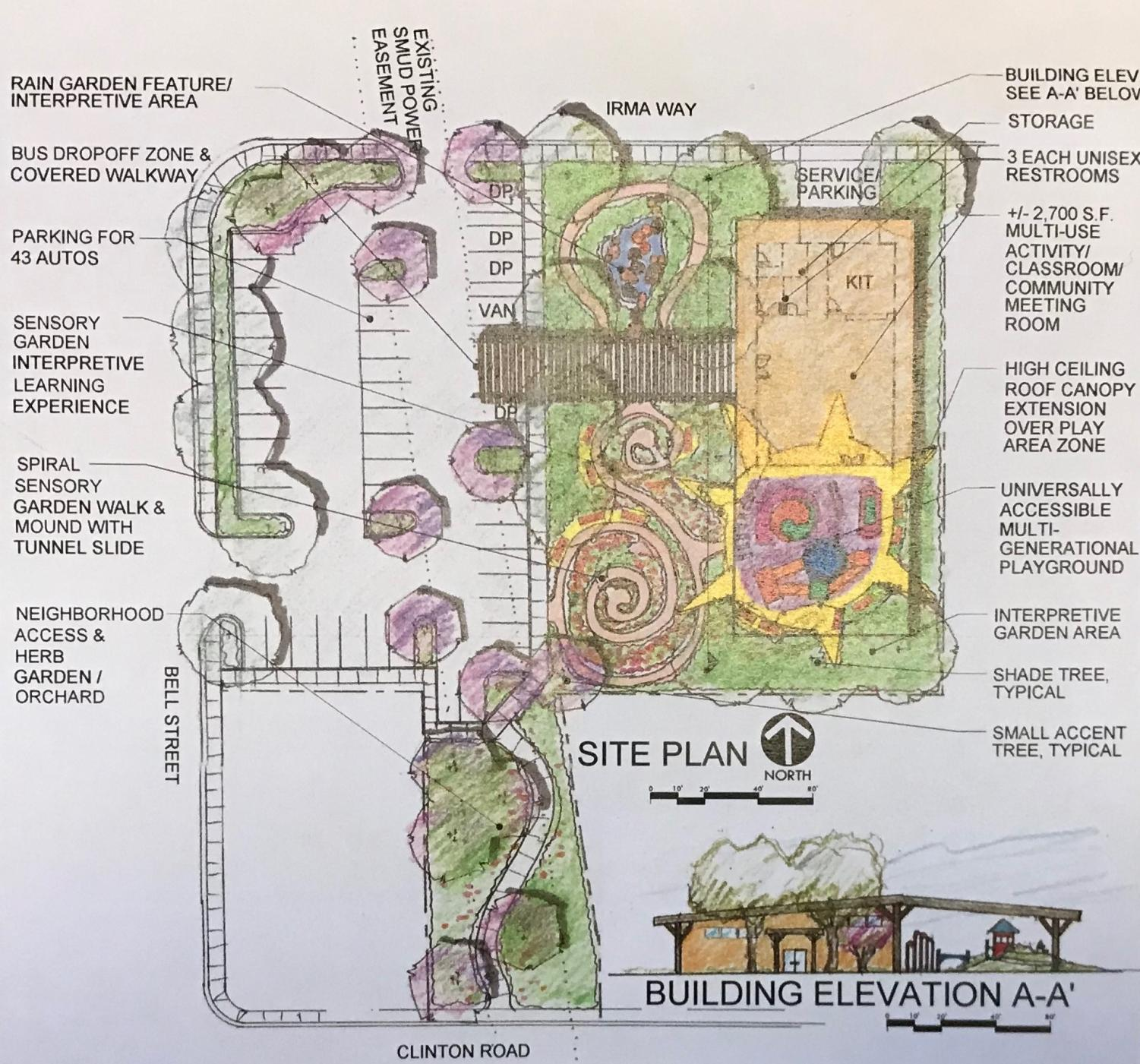 An empty lot at the corner of Bell Street and Irma Way in Arden-Arcade will become a community park by the hands of students in the Sac State Honors Program.