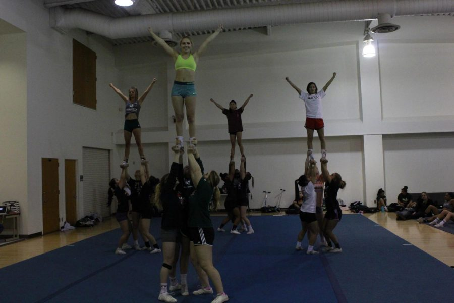 Members+of+the+Sacramento+State+STUNT+team+finish+a+routine+during+practice+at+Solano+Hall+on+Tuesday%2C+Feb.+20%2C+2018.+Last+season%2C+Sac+State+placed+second+in+the+NCAA+Division+I+Nationals.