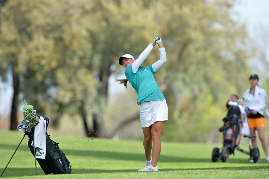 Sacramento+State+sophomore+Sofie+Babic+averaged+the+lowest+score+on+the+team+in+the+fall+season+and+earned+Big+Sky+Player+of+the+Week+honors+on+Sept.+20.