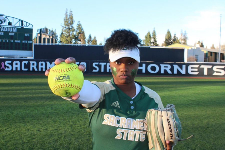 Sacramento+State+senior+pitcher+Celina+Matthias+won+the+Big+Sky+Conference+Pitcher+of+the+Year+award+during+her+sophomore+season+in+2016.+After+struggling+through+her+junior+year%2C+Matthias+made+a+vow+to+never+make+the+same+mistakes+in+the+pitching+circle+again.