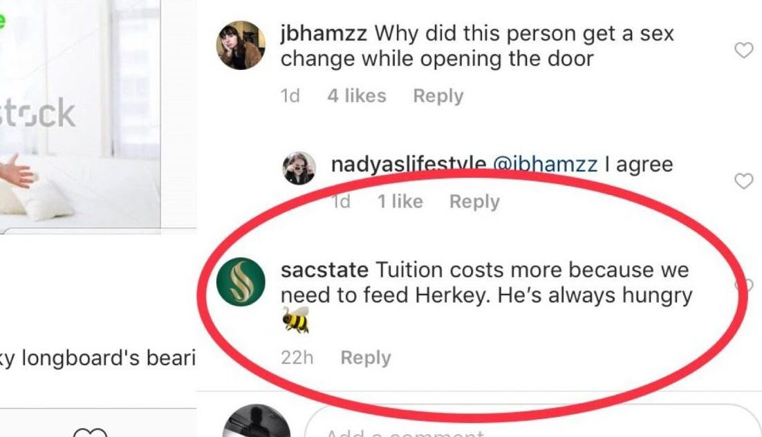 Sacramento State has removed a comment making light of tuition increases left on a post made by Instagram user @csus_memes. The post depicts Sac State welcoming tuition increases.
