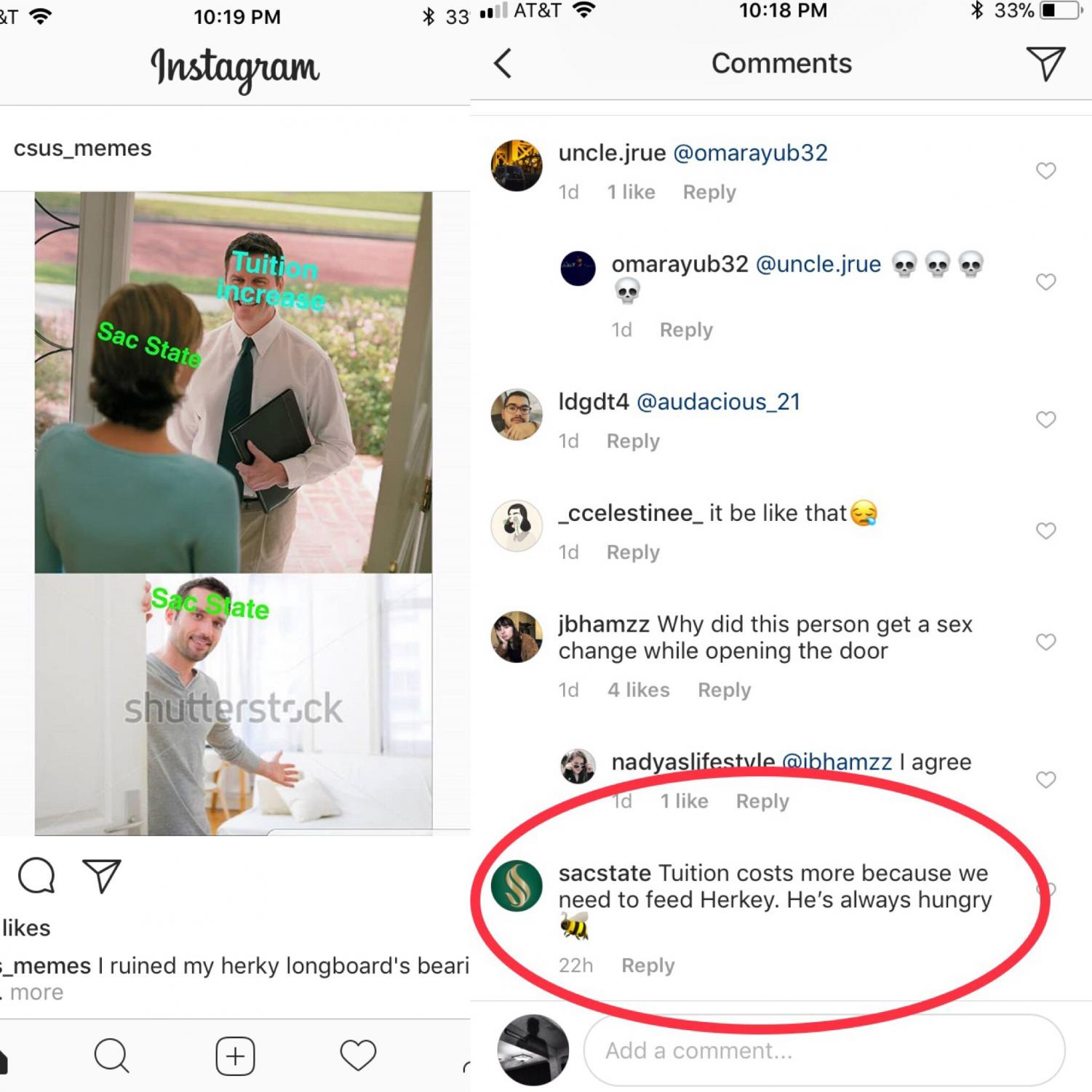 'Inappropriate' Instagram comment by Sac State account removed