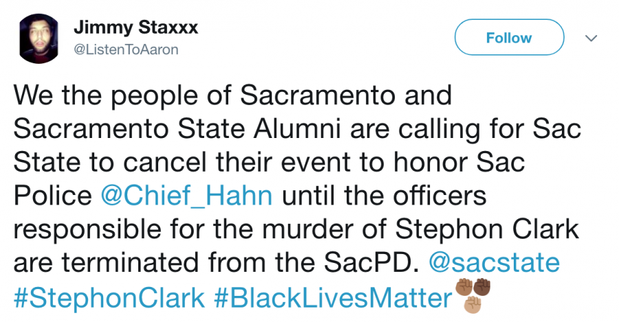 Some+call+for+Sac+State+to+cancel+banquet+honoring+Sacramento+Chief+of+Police