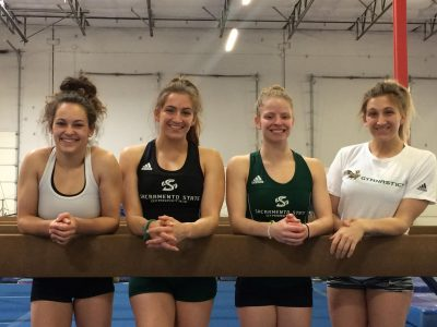 Junior shines as young Hornet gymnasts finish second behind Stanford