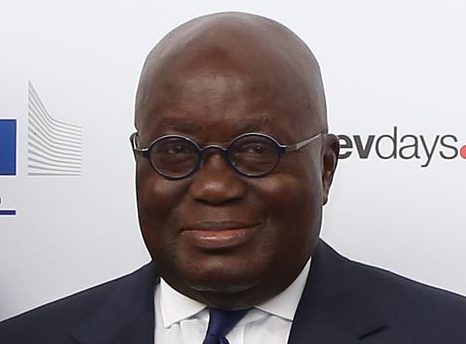 Nana Akufo-Addo poses at the European Development Days forum in Brussels on June 7, 2017. Akufo-Addo will be delivering the keynote speech at the Africa Peace Awards dinner at Sac State, despite numerous human rights concerns surrounding Ghana particularly with regard to the rights of gay, disabled and mentally ill people.