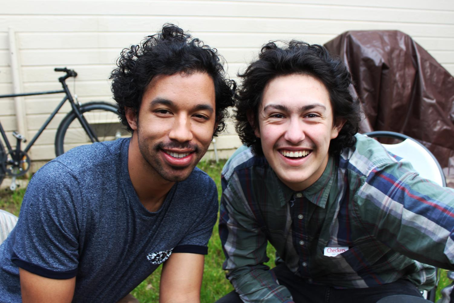 Hobo Johnson, right, really named Frank Lopes, poses with bandmate Derek Lynch in a photo taken for a previous State Hornet story.