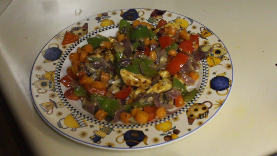 This+stove-top+recipe+includes+mushrooms%2C+bell+peppers%2C+carrots+and+garlic+%E2%80%94++takes+about+40+minutes+to+prepare.+
