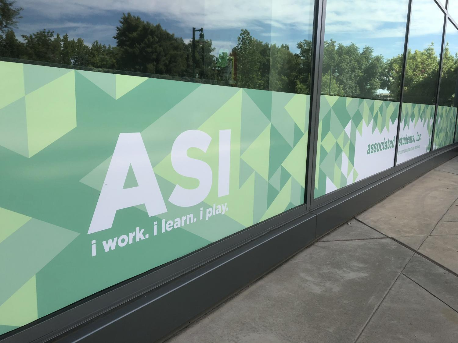 Associated Students banner at the WELL. ASI recently changed their Safe Ride program from a ride share service to offering reimbursements when students use other ride share services.