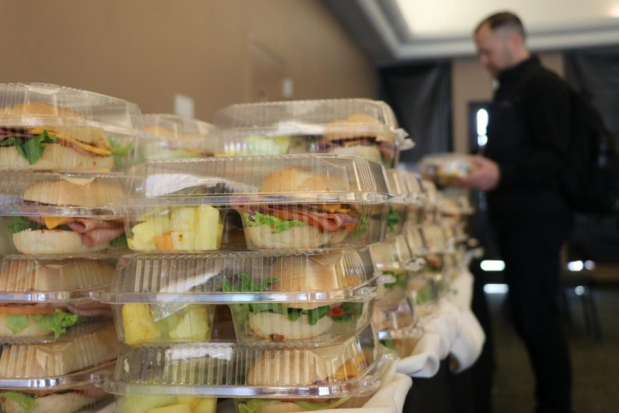 Leftover sandwiches were provided by Epicure and given to students through Epicure Extras after the Student Panel on Jan. 8