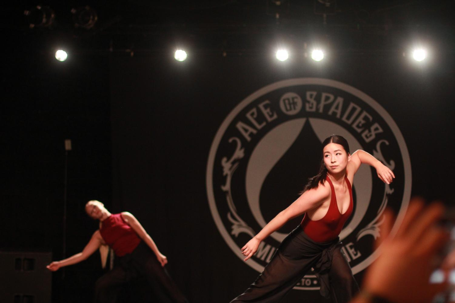 Contemporary dancer and choreographer, Liselle Yap, performs at CONNECT, a RAW artists showcase held at Ace of Spades on Thursday in Sacramento, CA. Yap was one of three dancers who performed.