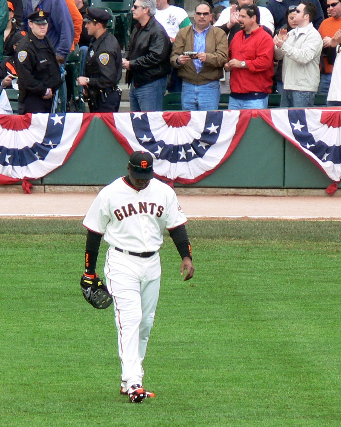 Barry Bonds waiting for the start of a game on April, 6, 2006 at AT&T Park in San Francisco, California. Bonds, along with many other MLB players, are unfairly kept out of the Hall of Fame, making the honor not as prestigious.