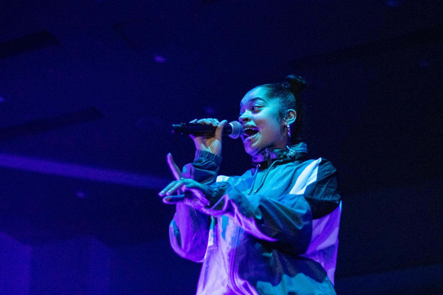 Ella Mai performs in the Union Ballroom on Oct. 18 2018. The concert sold out in 35 hours.