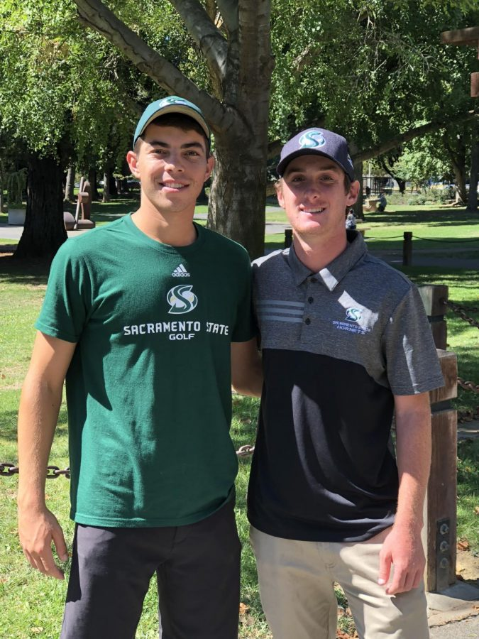 Junior Eric Olsen (left) and freshman Ethan Davidson (right) are looking to learn from their play and improve throughout the rest of the season.