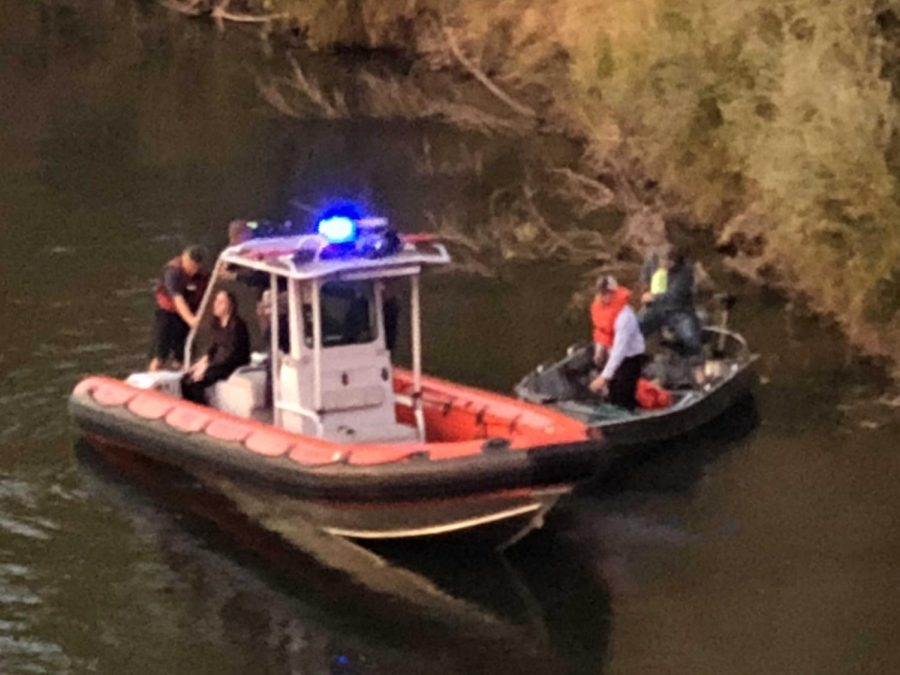 Sacramento Fire Department rescues a woman that jumped off the Guy West Bridge on Wednesday evening.