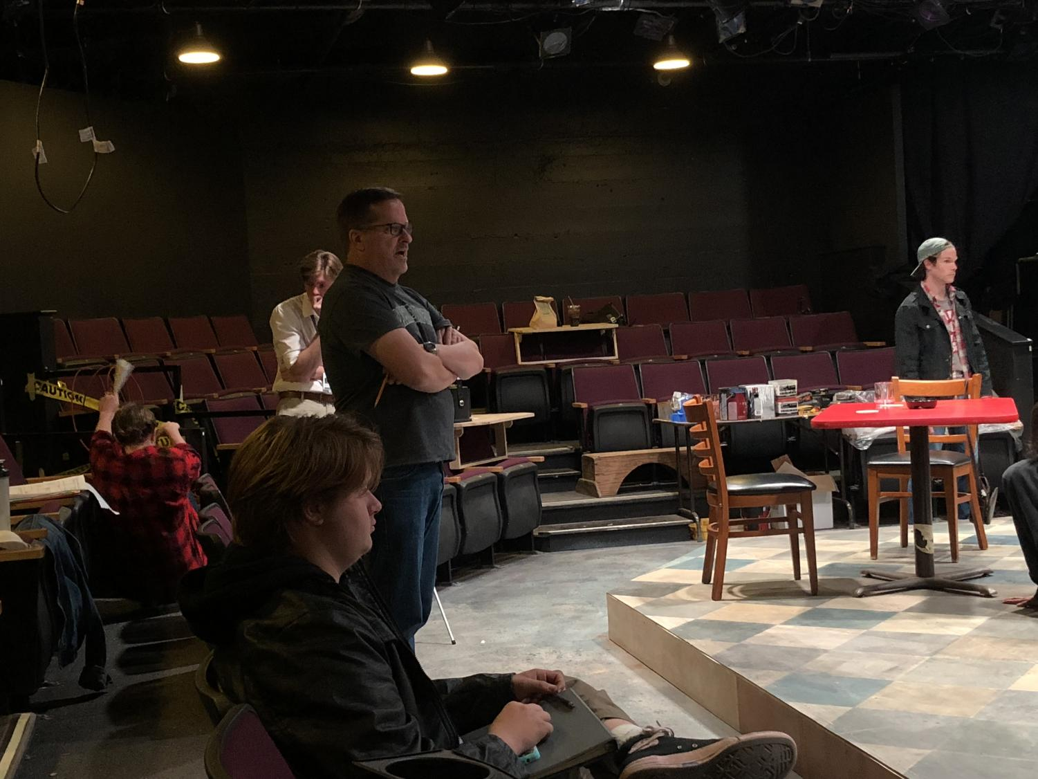 Sac State professor, Michael Stevenson, directs the play 'SWEAT' at Capital Stage in Sacramento, Calif. The play debuted Oct. 17 and runs until Nov. 18.