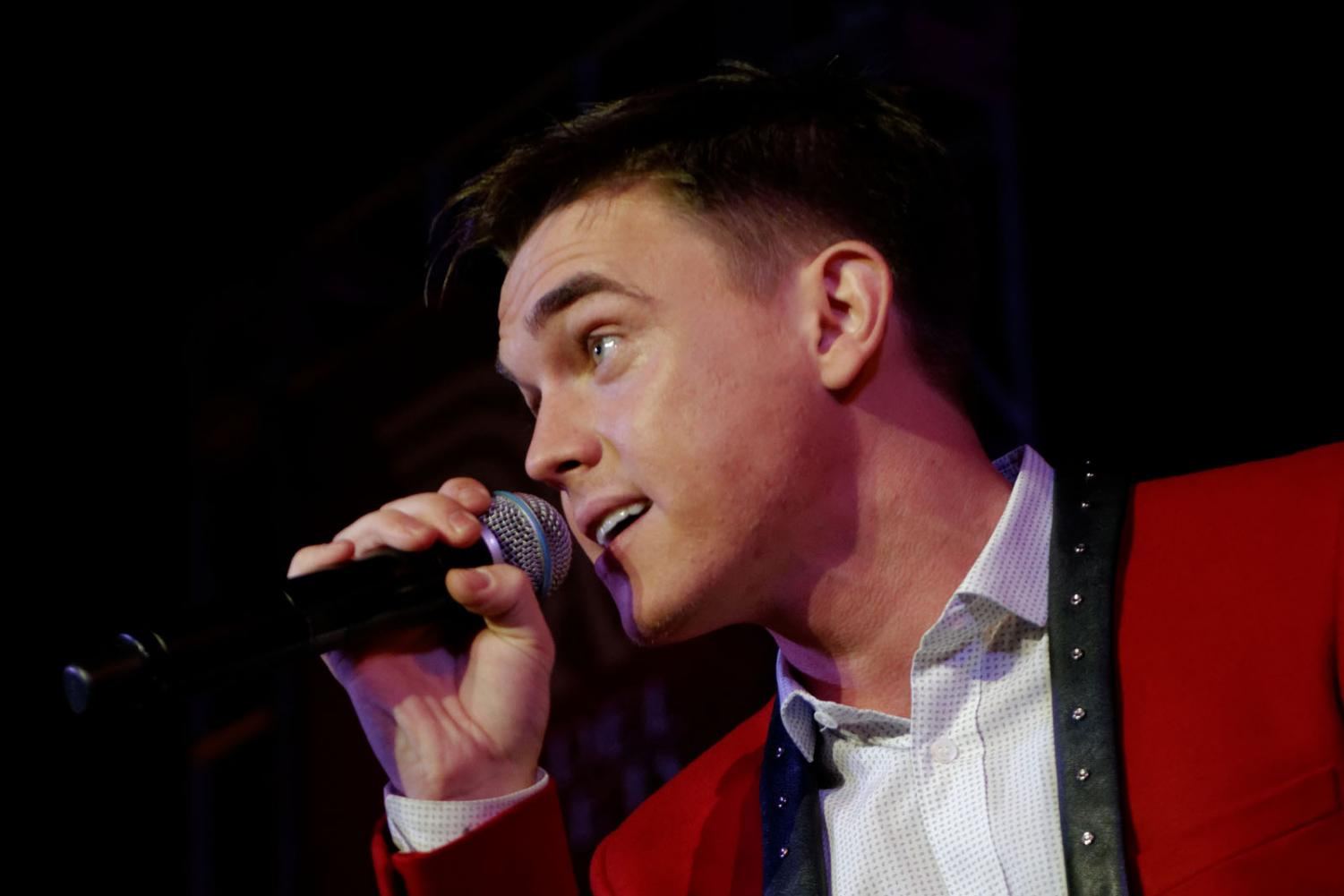 Jesse McCartney performing live at The Citadel Outlets' 12th Annual Tree Lighting Concert in Commerce CA Nov. 9th, 2013.