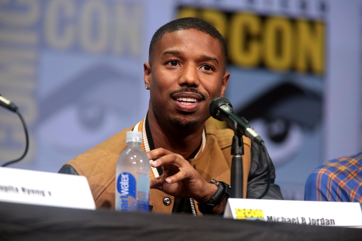 Michael B. Jordan speaking at the 2017 San Diego Comic Con International for