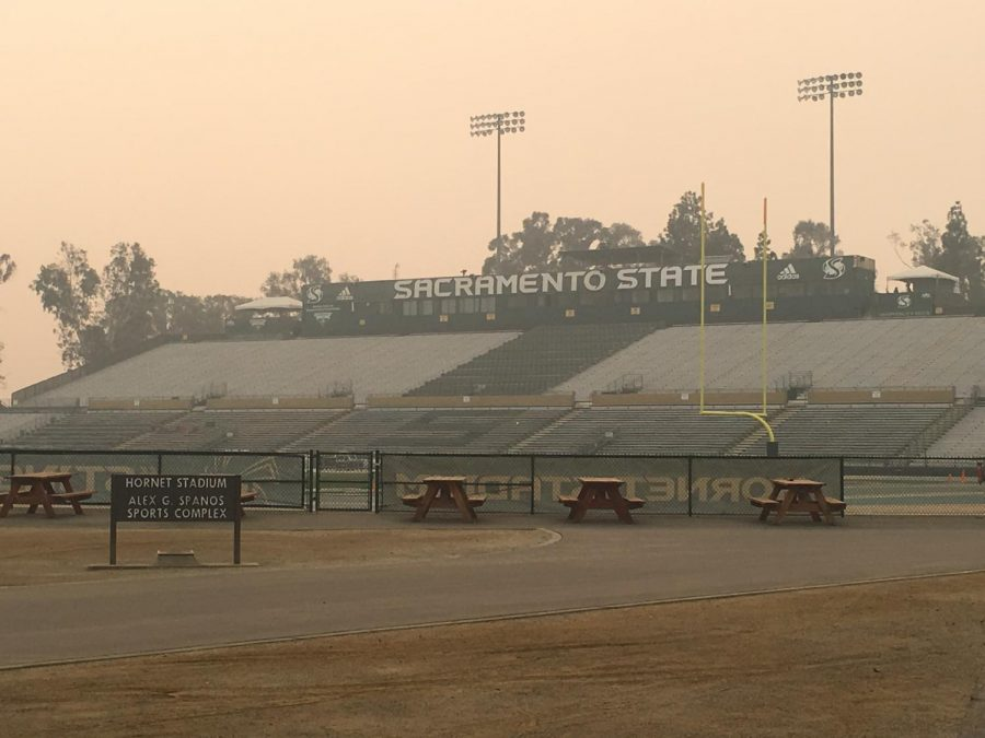 Sac State cancelled its game against Northern Arizona on Saturday after the air quality index reached 218. Sac State does not allow athletic events to take place if the air quality index is recorded above 200.