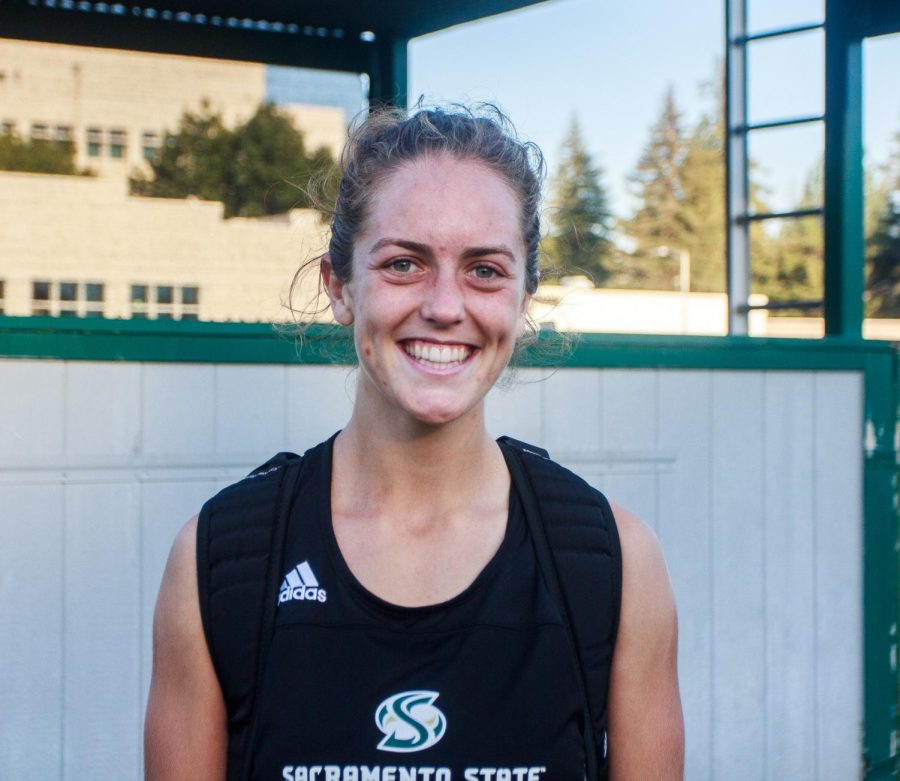 Sac+State+senior+Caitlin+Prothe+has+become+a+captain+in+her+last+two+seasons+as+a+Hornet.+She+has+gone+through+numerous+injuries+throughout+her+career.