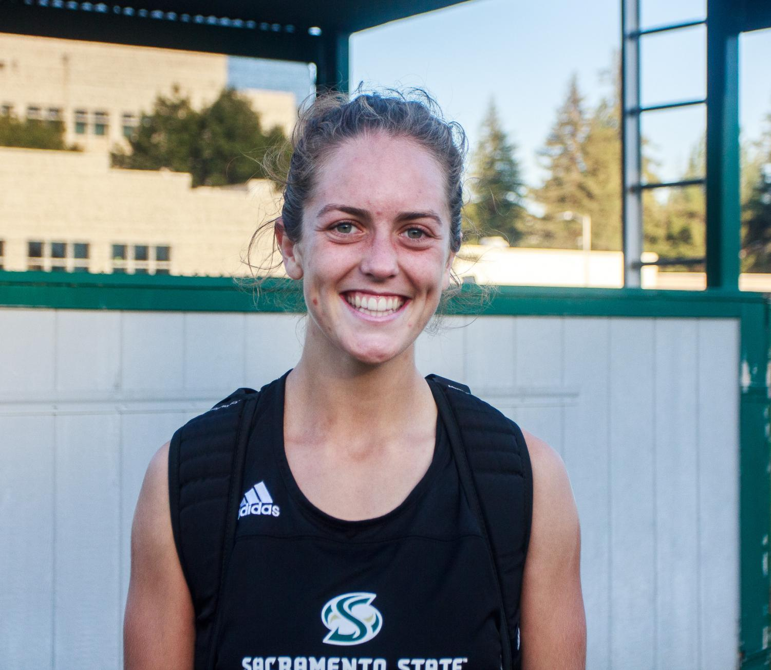 Sac State senior Caitlin Prothe has become a captain in her last two seasons as a Hornet. She has gone through numerous injuries throughout her career.