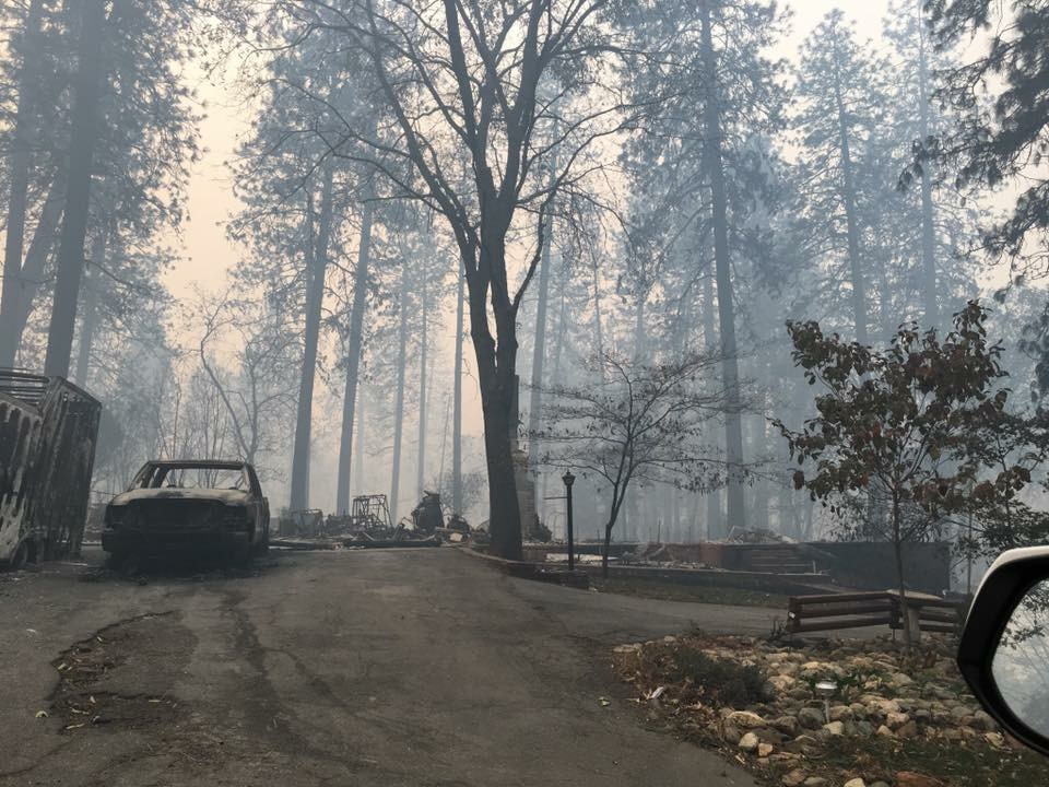 The home of Sac State criminal justice student Angelica Philpott's cousin Justin Reinolds is pictured after it was destroyed by the Camp Fire's blaze. The Butte County fire burned more than 6,000 homes, according to Cal Fire.
