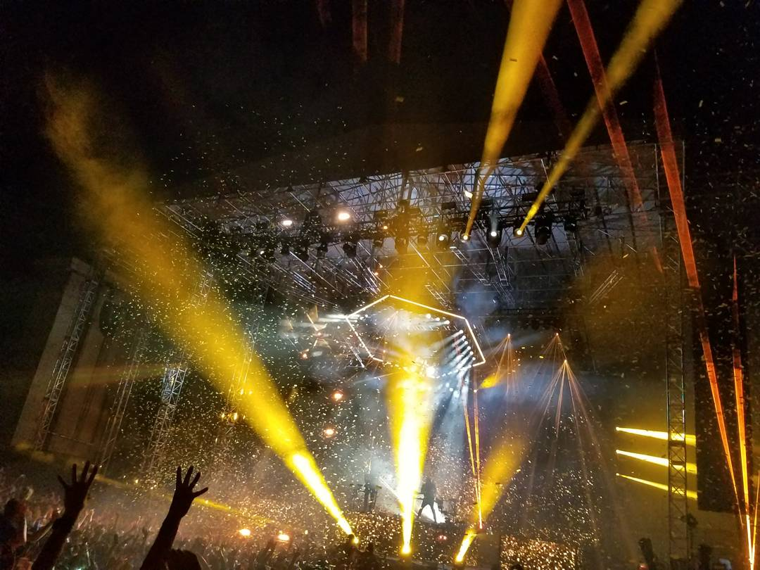 ODESZA performing for their
