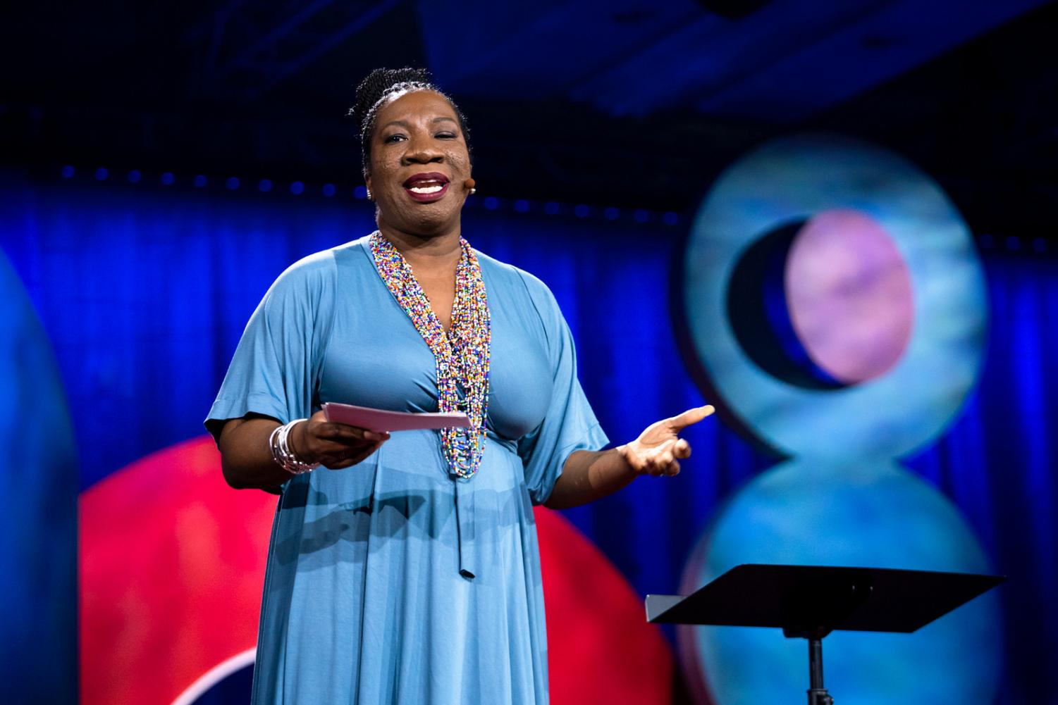 Tarana Burke speaks at the TedWomen 2018: Showing Up conference in Palm Springs, California on Nov. 30, 2018. Burke will speak at Sac State on Feb. 7 in the University Union.