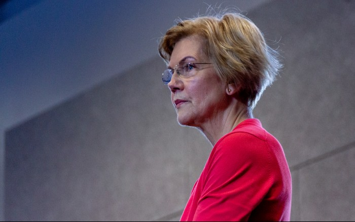 Sen. Elizabeth Warren, D-Mass., makes a campaign stop at Manchester Community College in Manchester, New Hampshire on Saturday, Jan. 12, 2019. Warren announced on Monday, Dec. 31, 2018 that she would run for President in the 2020 Democratic primaries.