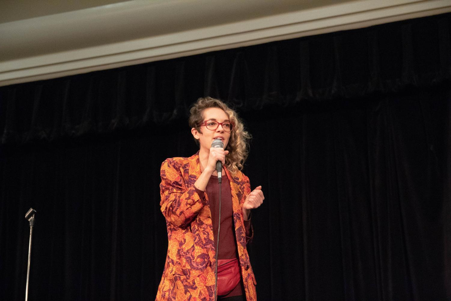 Comedian and Sac State alumna, Shahera Hyatt, was the second act in the comedy show put together by UNIQUE Programs in the University Union Ballroom on Thursday.