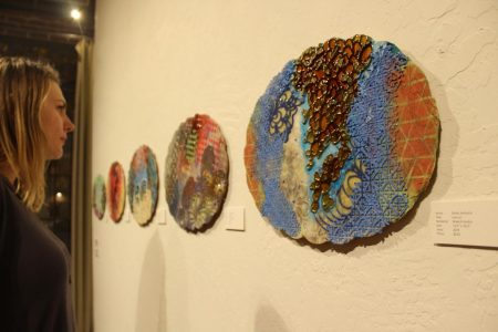 Sac State alumna showcases abstract art at Tim Collom Gallery