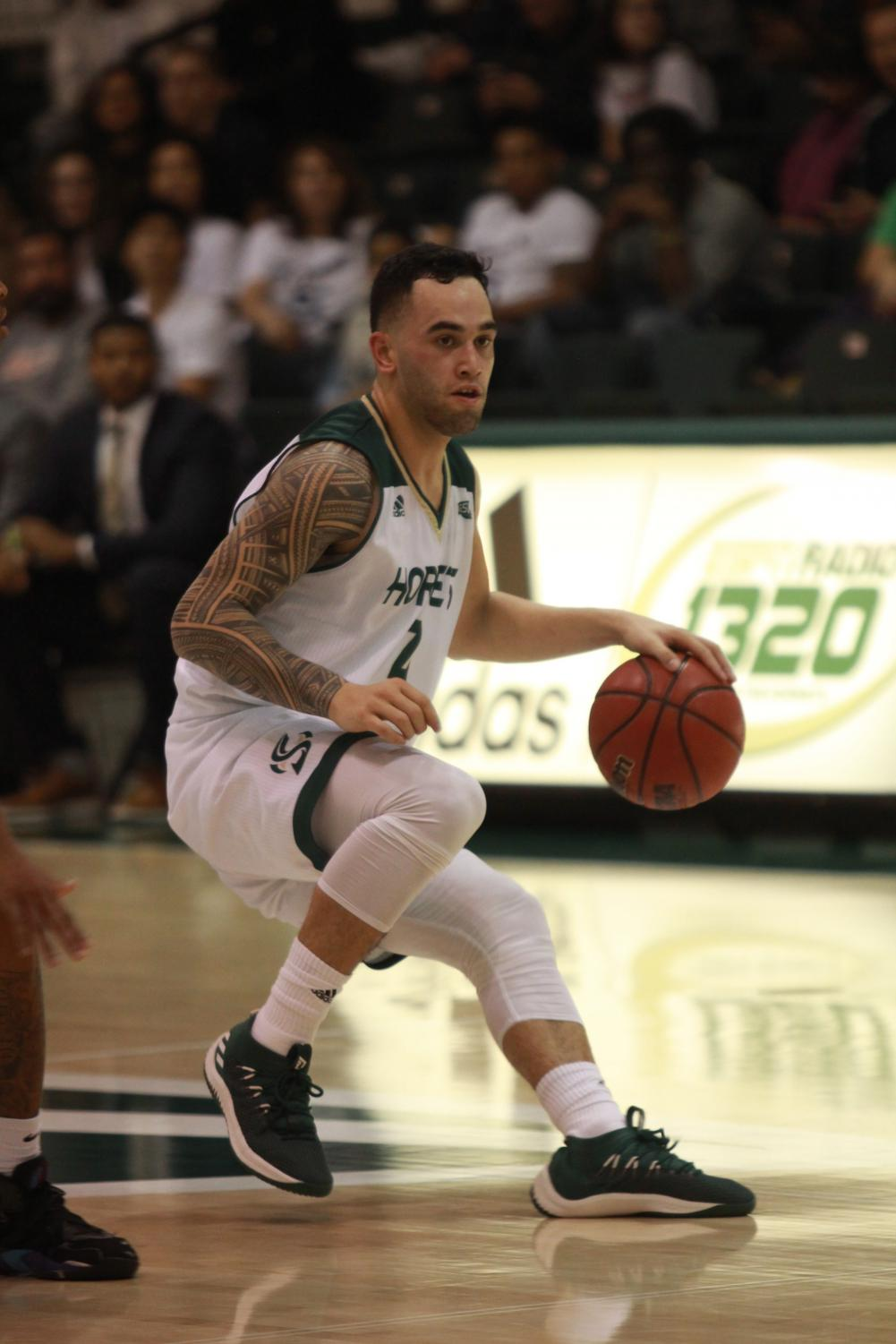 Sac State junior guard Izayah Mauriohooho-Le'afa scored 16 points in the Hornets 72-70 loss against Idaho State on Saturday.