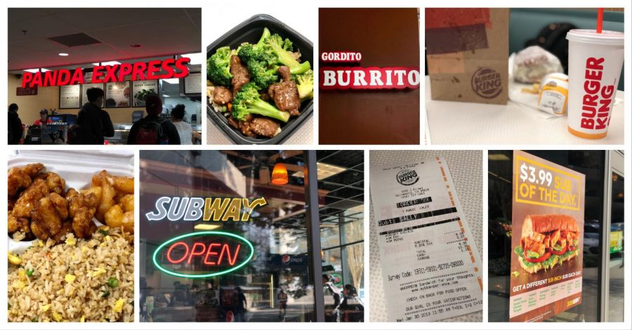 A+variety+of+restaurant+options+at+Sac+State.+Students+expressed+where+to+buy+affordable+food+on+campus.