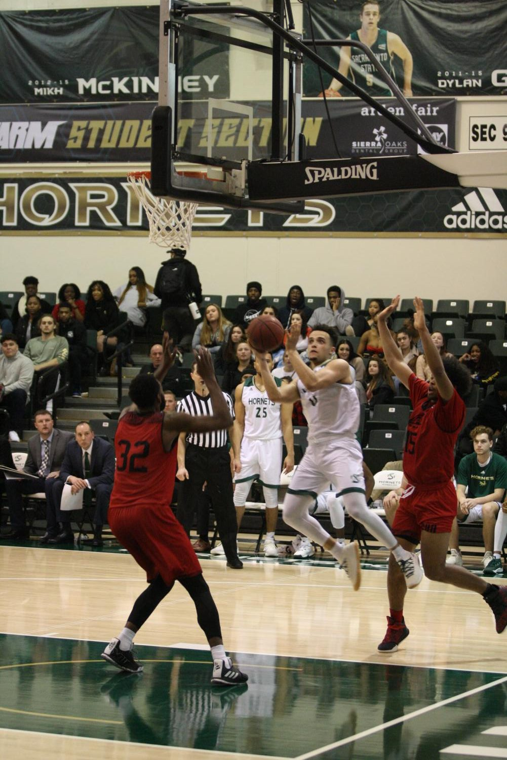 Sac State senior guard Marcus Graves shoots during the Hornets 84-73 win over Southern Utah on Thursday.