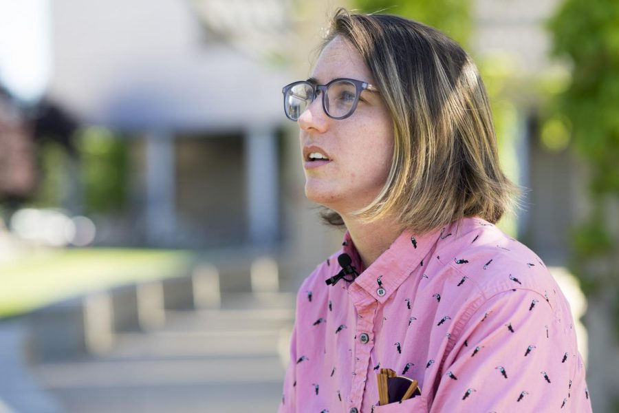 Sacramento State's victim advocate, Hailey Vincent, pictured here in 2017, confidentially handles student reports of sexual assault, offering assistance and advice on what survivors should do next. Vincent will be speaking on a panel about how the school handles Sexual Assault Monday.
