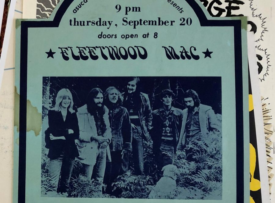 Advertisement+of+Fleetwood+Mac+performing+at+UC+Davis.+The+Sacramento+State+Special+Collections+and+University+Archives+will+be+home+to+Dennis+Newhall%27s+collection+of+over+3%2C000+concert+posters%2C+ticket+stubs+and+newspaper+articles.