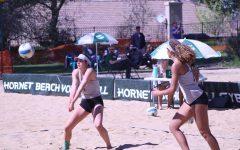 Women's beach volleyball team show consistency despite woes