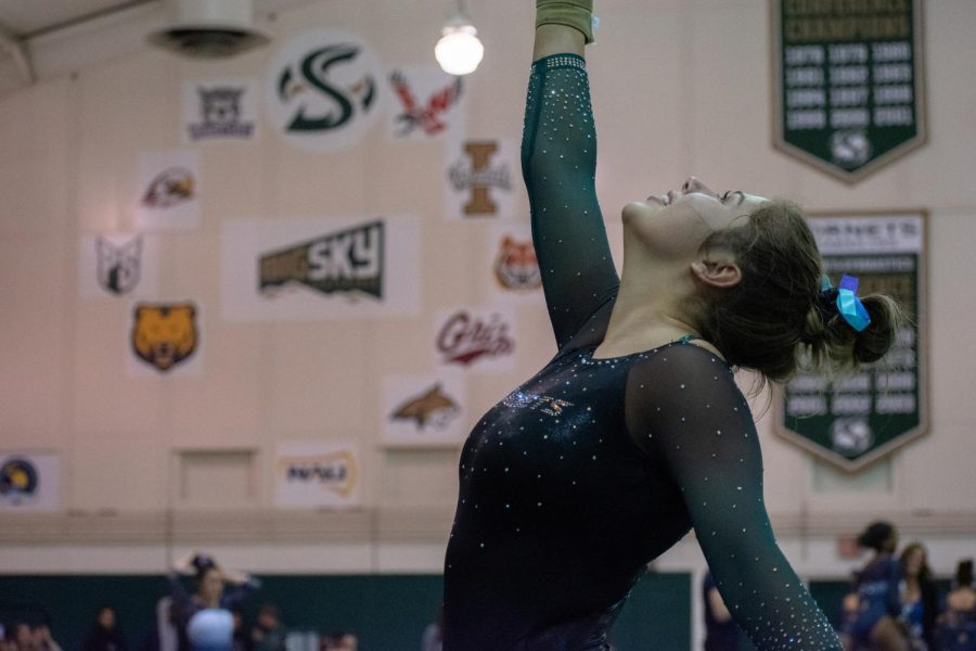 Sac State senior gymnast Carly Pratt recorded a 9.775 on beam and a 9.700 on floor on senior night on March 1. Pratt celebrated senior night with Lauren Schmeiss and Jackie Sampson.